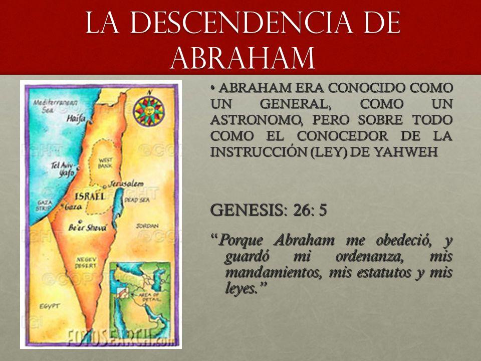 LA DESCENDENCIA DE ABRAHAM