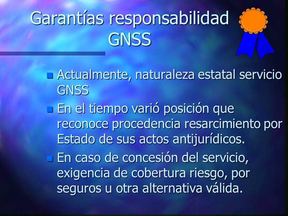 Garantías responsabilidad GNSS