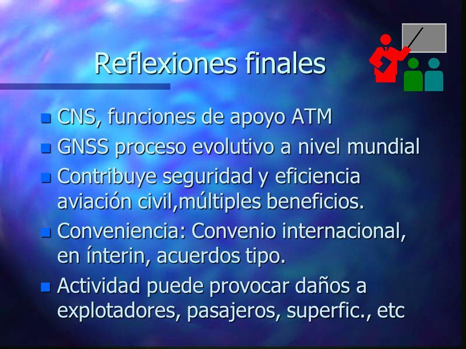 Reflexiones finales CNS, funciones de apoyo ATM