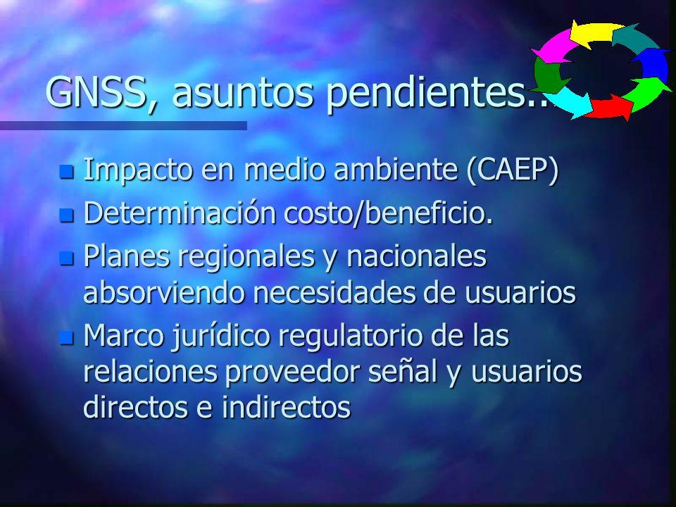 GNSS, asuntos pendientes...