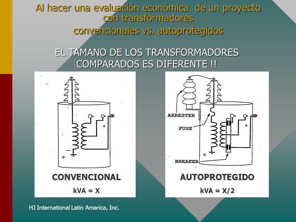 EL TAMANO DE LOS TRANSFORMADORES COMPARADOS ES DIFERENTE !!