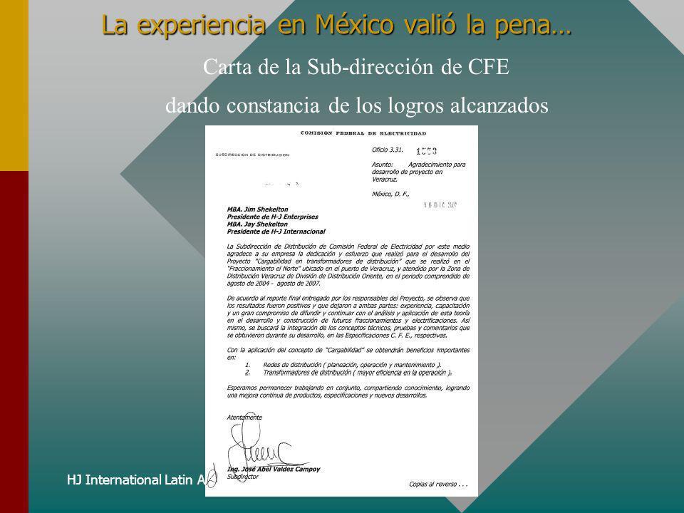 La experiencia en México valió la pena…