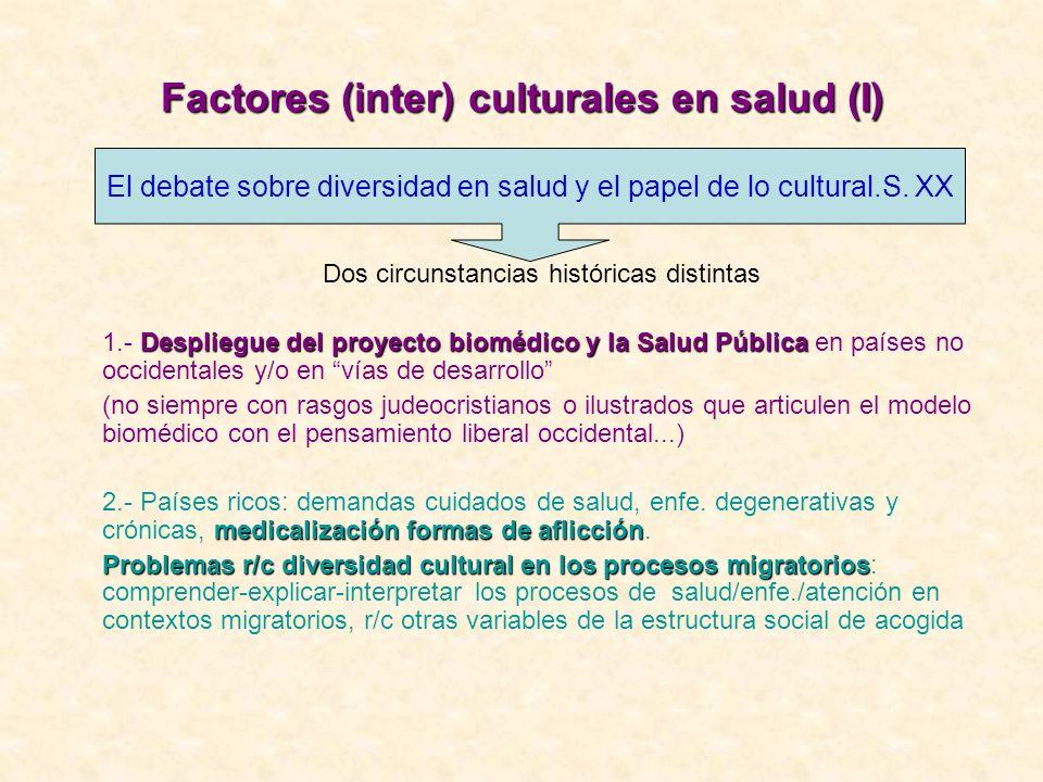 Factores (inter) culturales en salud (I)