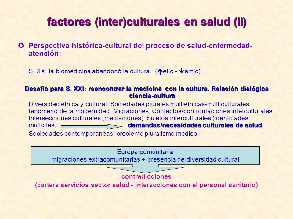 factores (inter)culturales en salud (II)