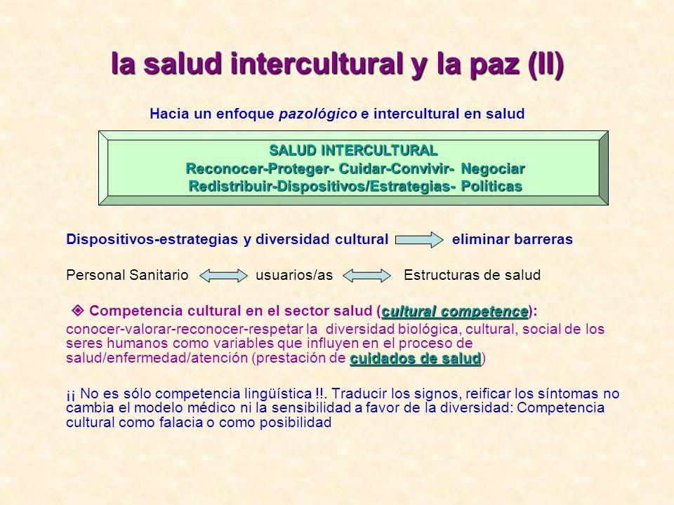 la salud intercultural y la paz (II)