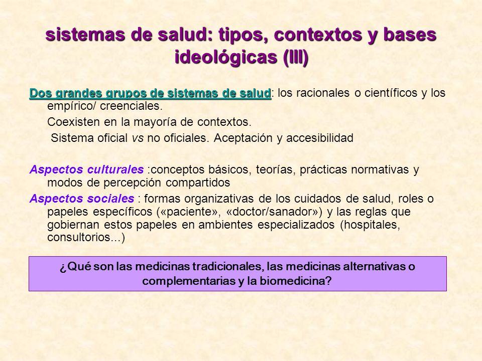 sistemas de salud: tipos, contextos y bases ideológicas (III)