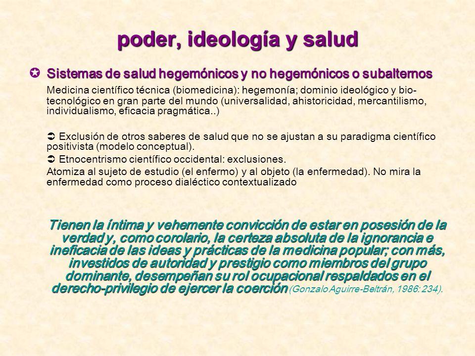 poder, ideología y salud