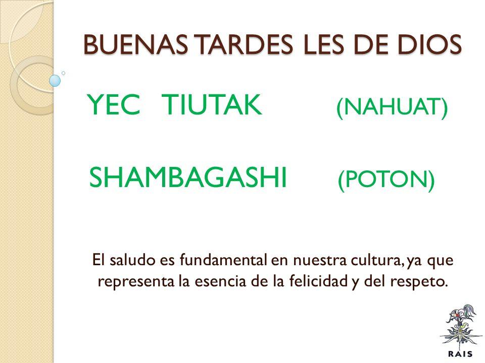 BUENAS TARDES LES DE DIOS