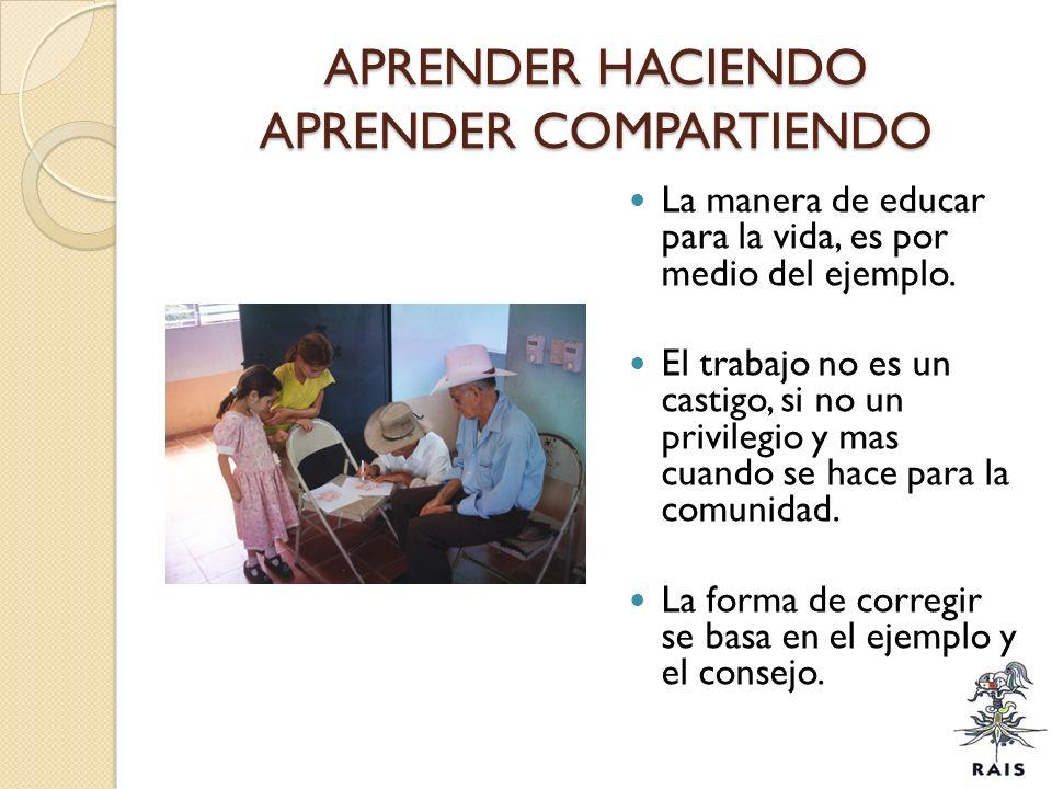 APRENDER HACIENDO APRENDER COMPARTIENDO