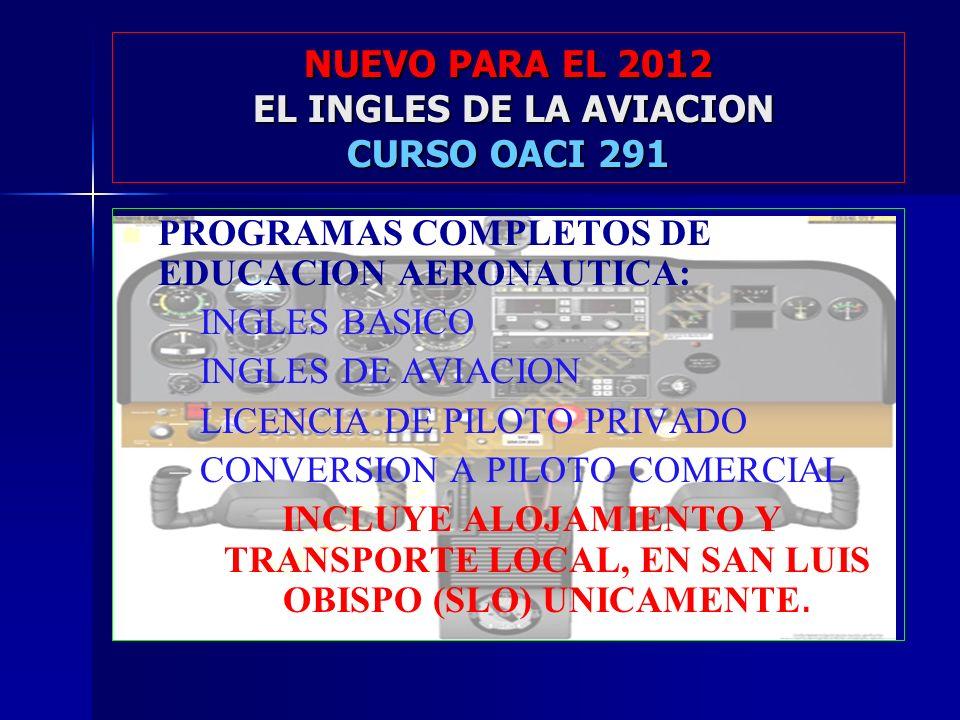 NUEVO PARA EL 2012 EL INGLES DE LA AVIACION CURSO OACI 291
