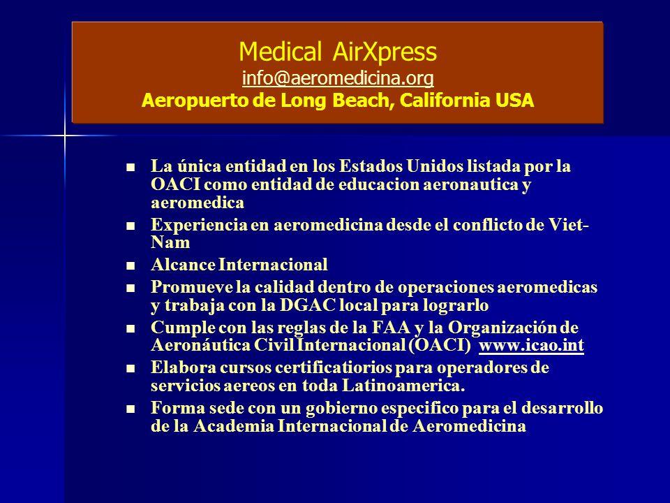 Medical AirXpress info@aeromedicina