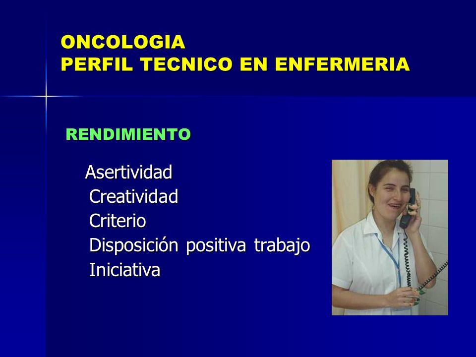 ONCOLOGIA PERFIL TECNICO EN ENFERMERIA