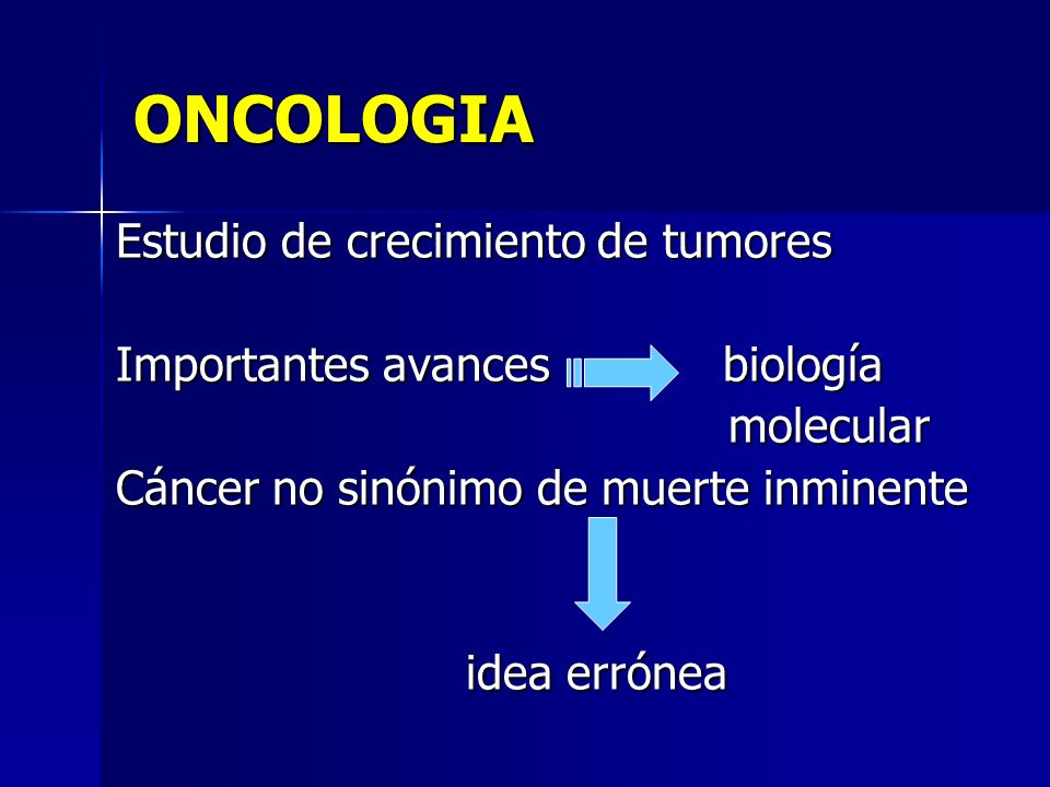 ONCOLOGIA Estudio de crecimiento de tumores