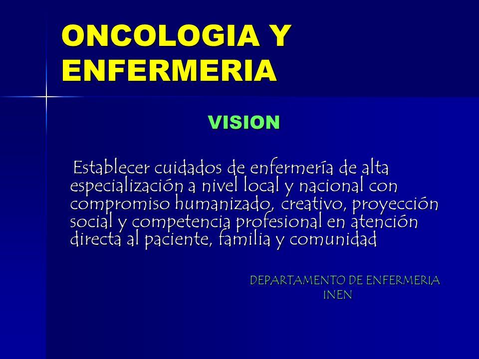 ONCOLOGIA Y ENFERMERIA
