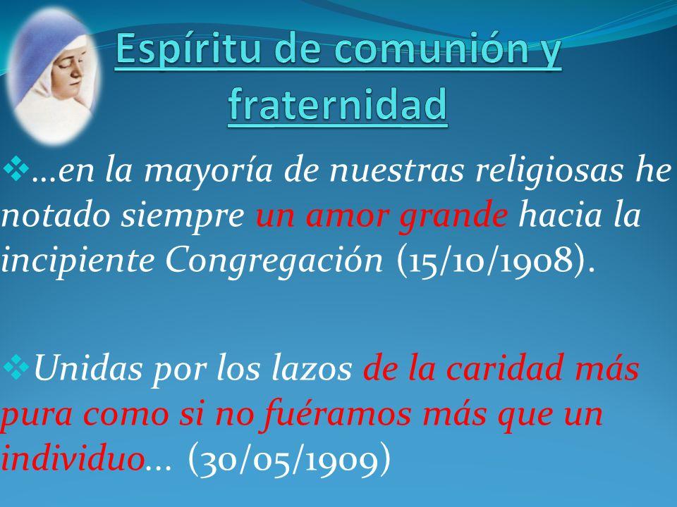 Espíritu de comunión y fraternidad