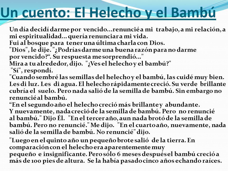 Un cuento: El Helecho y el Bambú