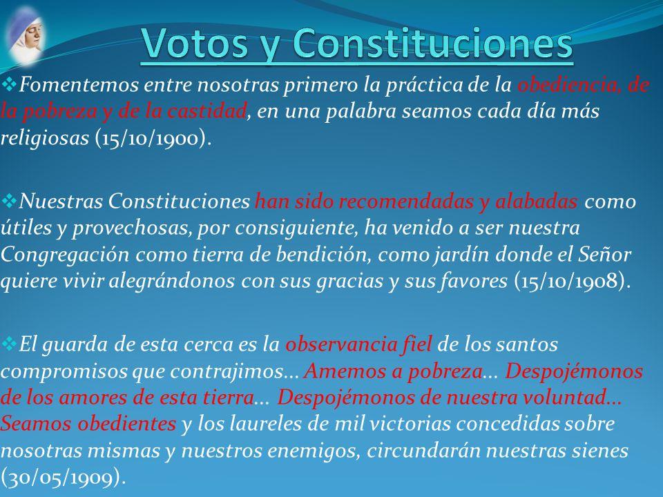 Votos y Constituciones