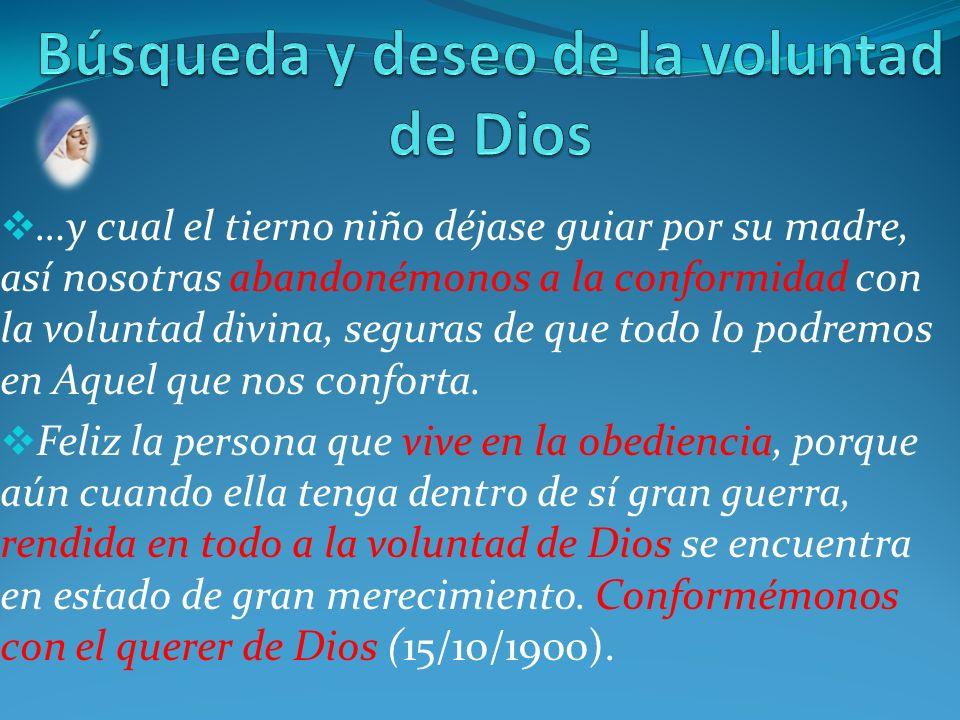 Búsqueda y deseo de la voluntad de Dios