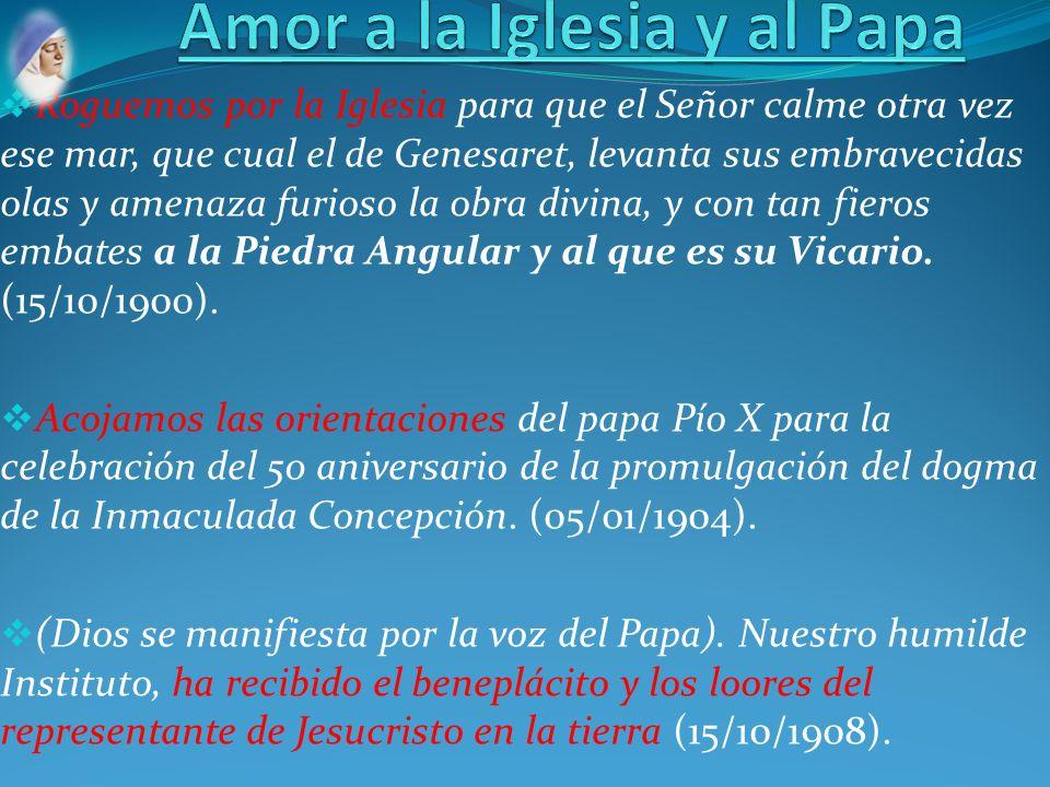Amor a la Iglesia y al Papa