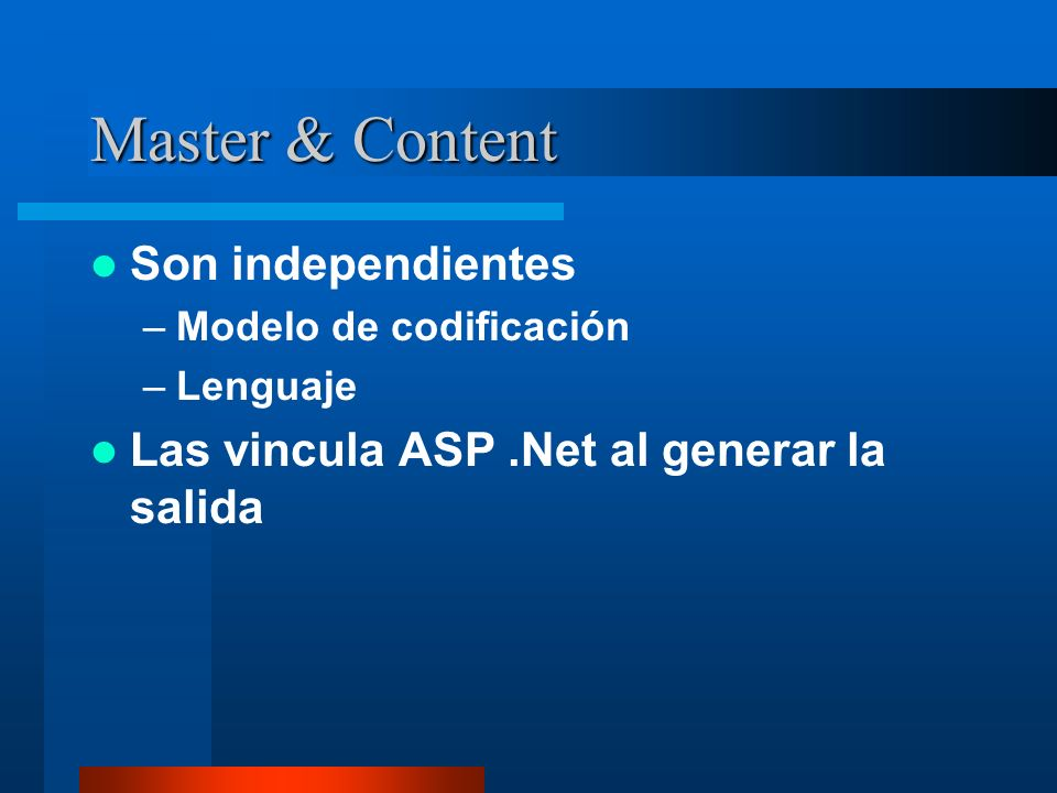 Master & Content Son independientes