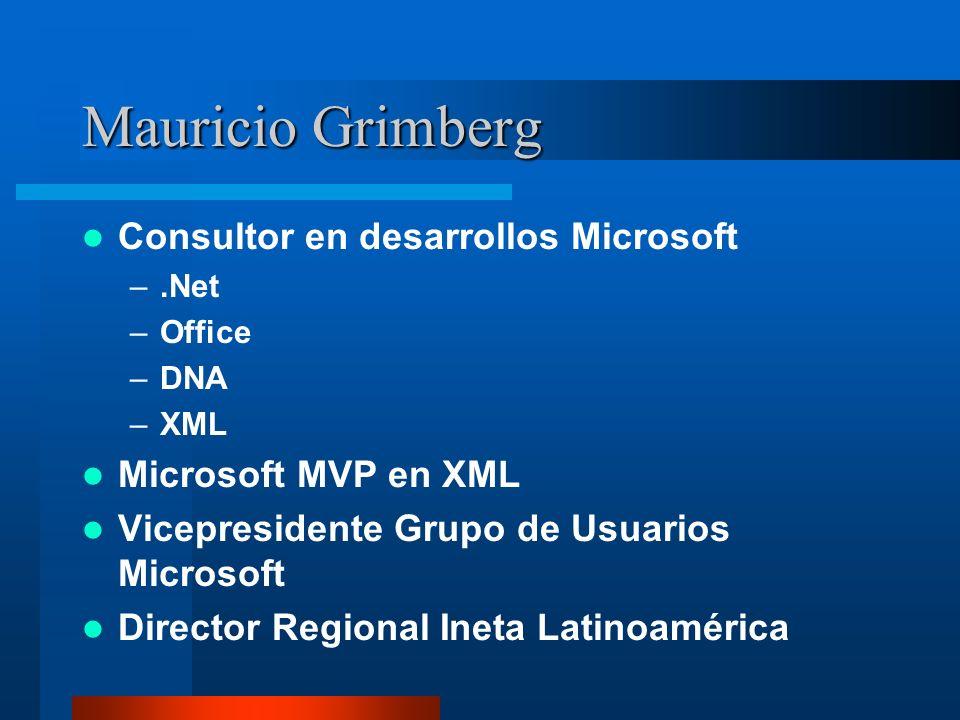 Mauricio Grimberg Consultor en desarrollos Microsoft