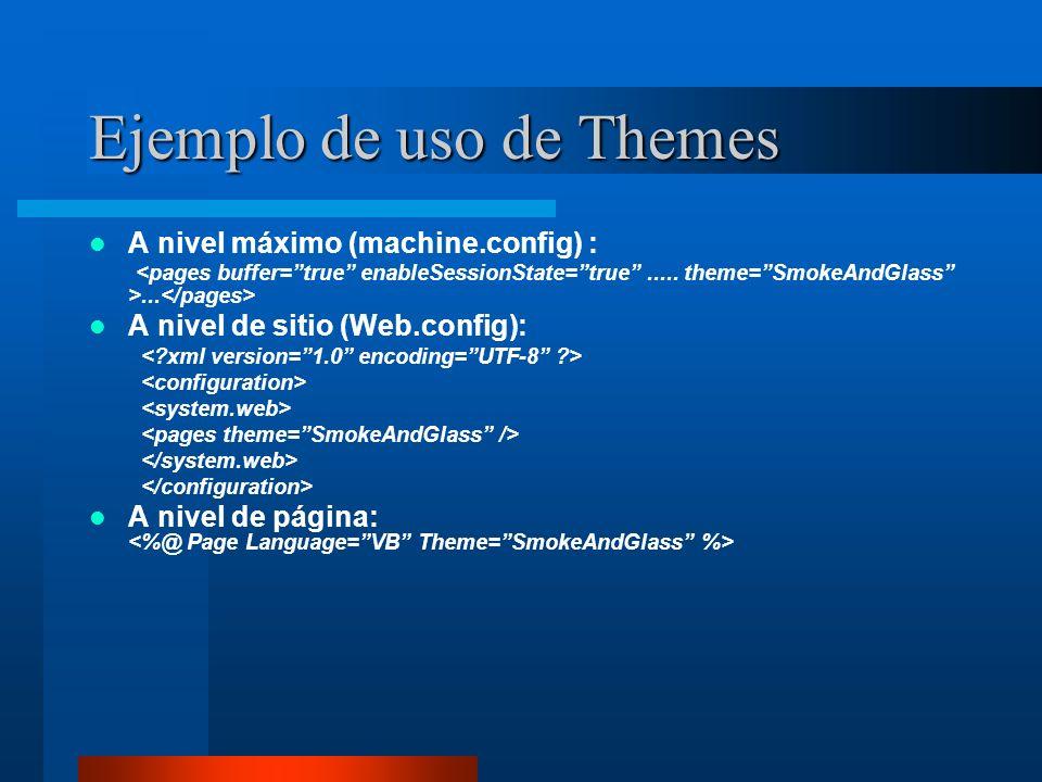 Ejemplo de uso de Themes