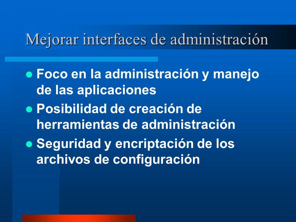 Mejorar interfaces de administración