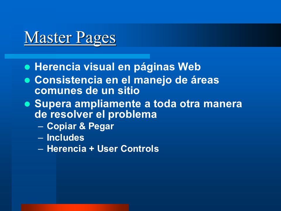 Master Pages Herencia visual en páginas Web