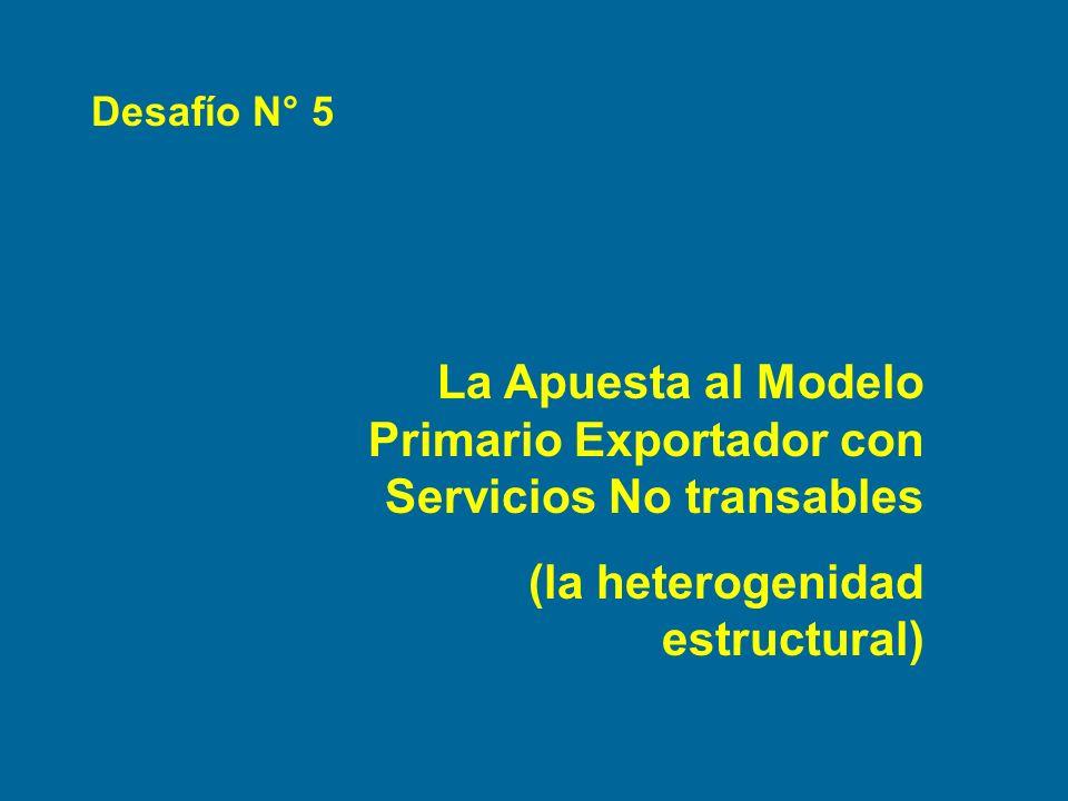 La Apuesta al Modelo Primario Exportador con Servicios No transables