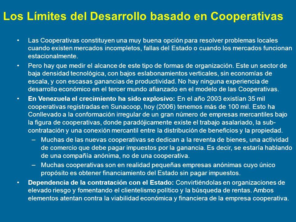 Los Límites del Desarrollo basado en Cooperativas