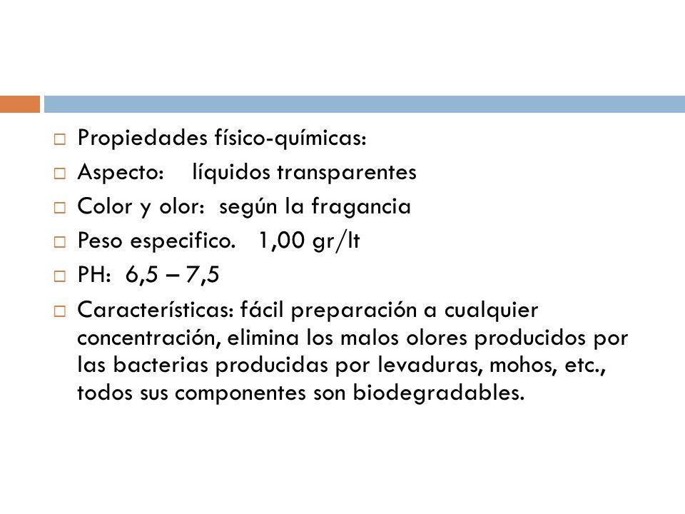 Propiedades físico-químicas:
