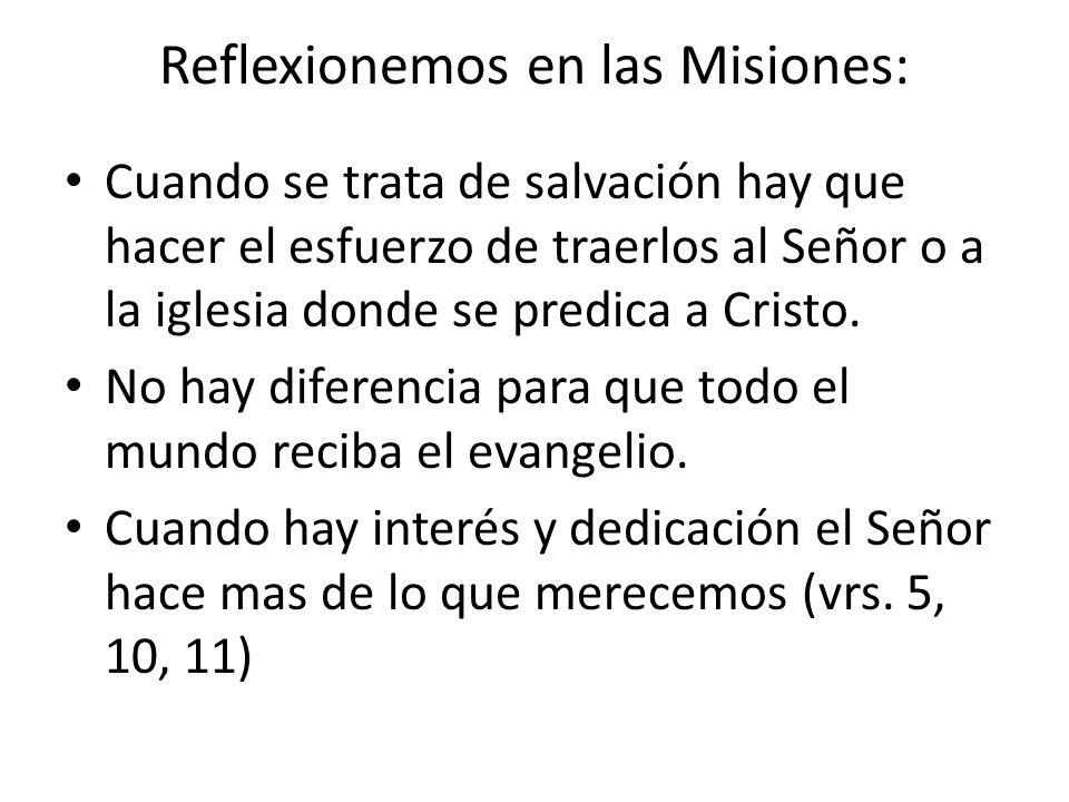 Reflexionemos en las Misiones:
