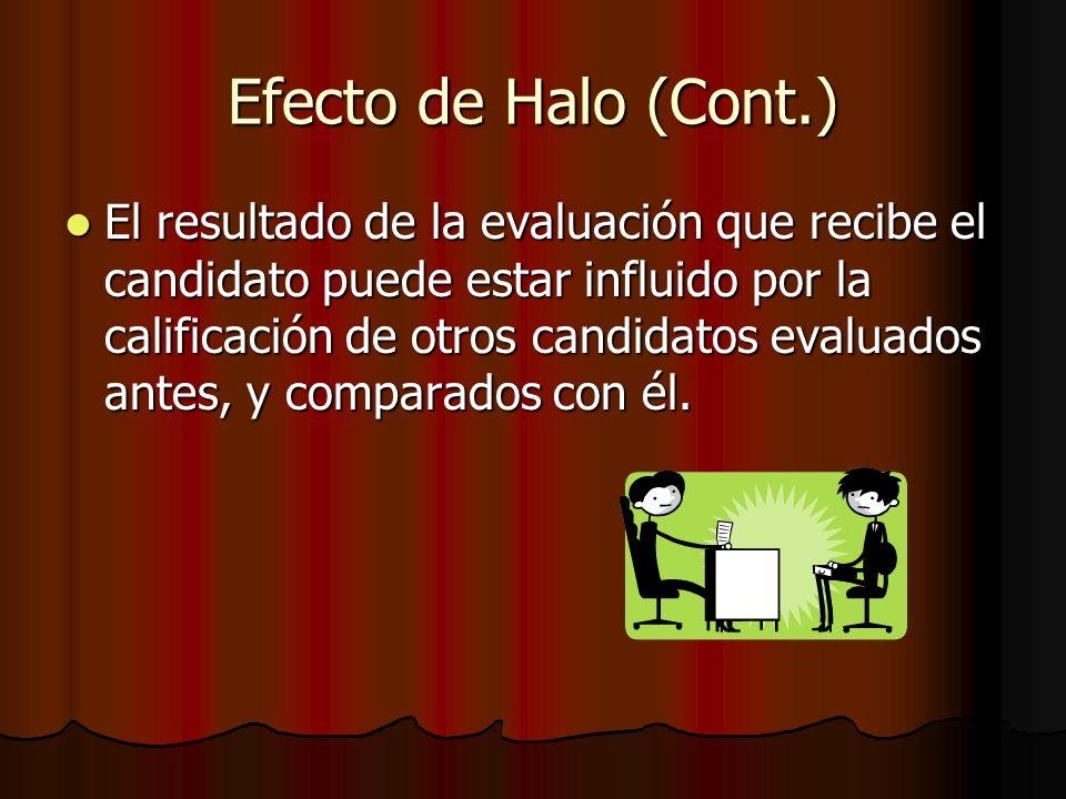 Efecto de Halo (Cont.)