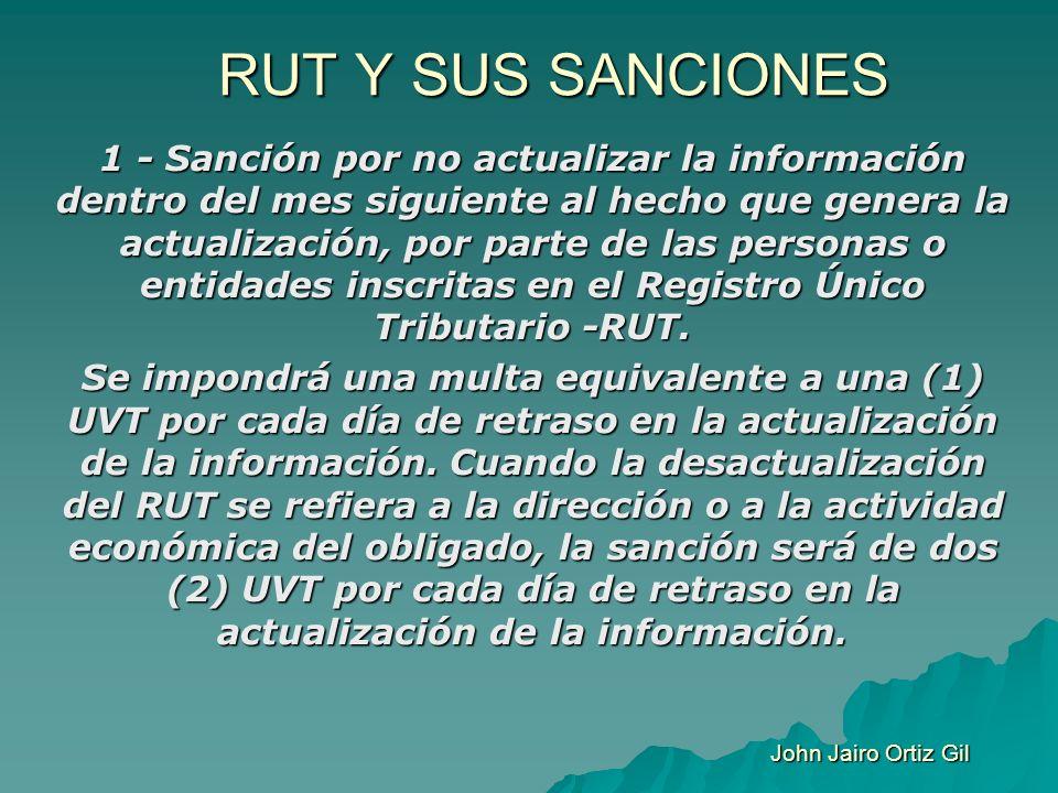 RUT Y SUS SANCIONES