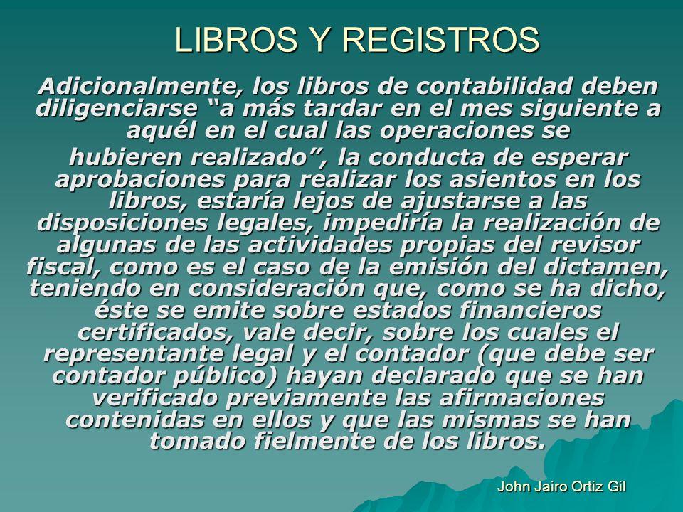 LIBROS Y REGISTROS