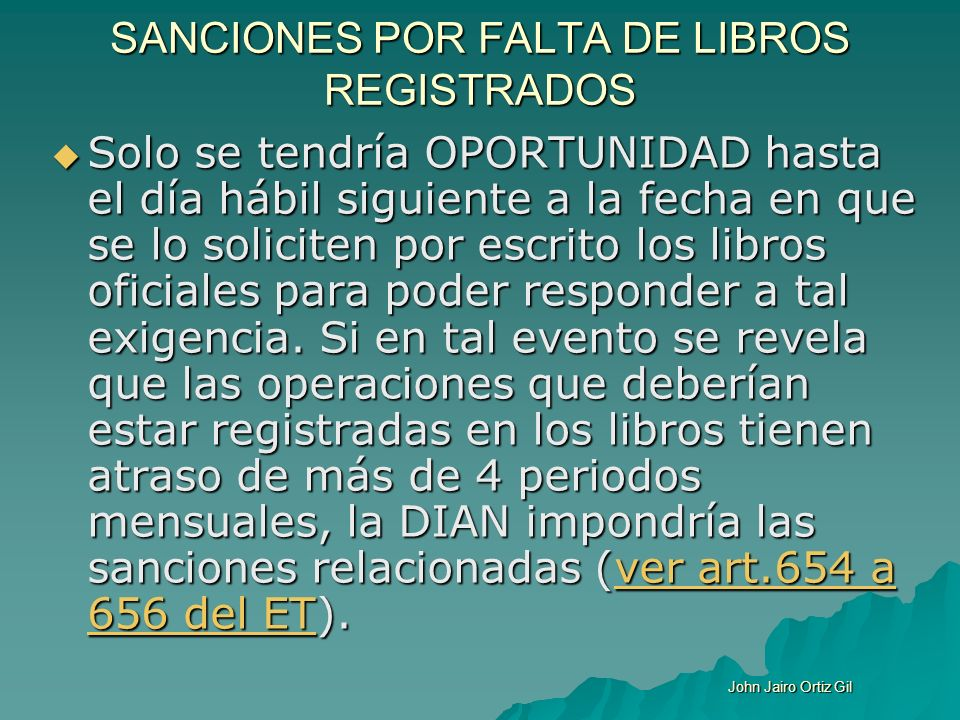 SANCIONES POR FALTA DE LIBROS REGISTRADOS
