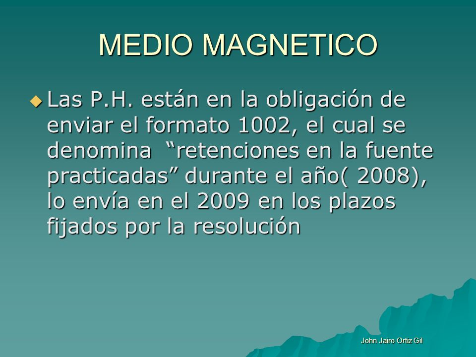 MEDIO MAGNETICO