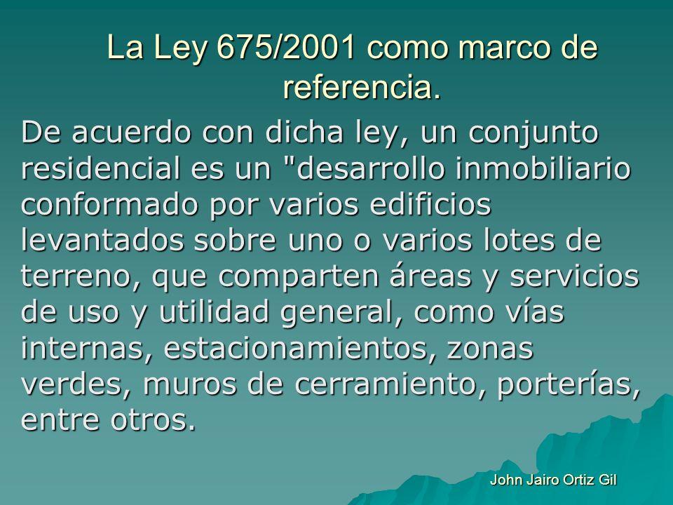 La Ley 675/2001 como marco de referencia.