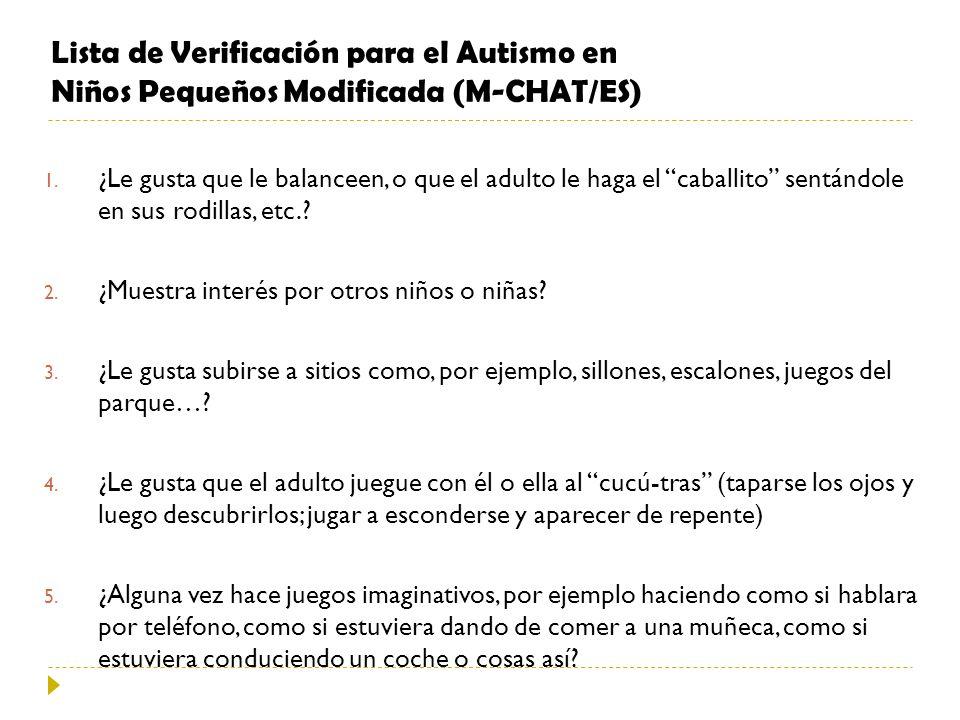 Lista de Verificación para el Autismo en