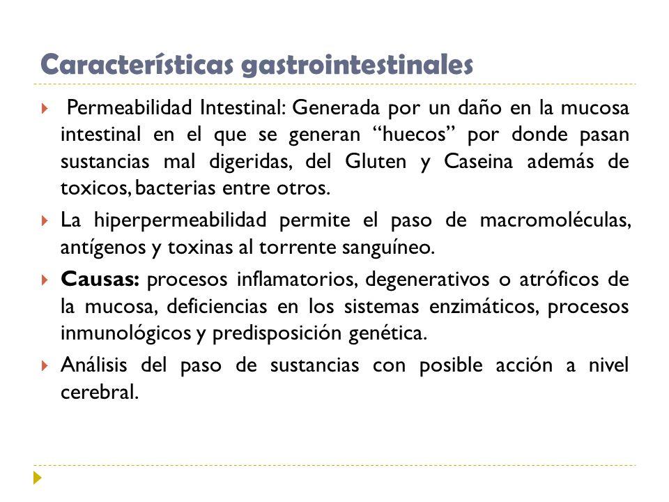 Características gastrointestinales