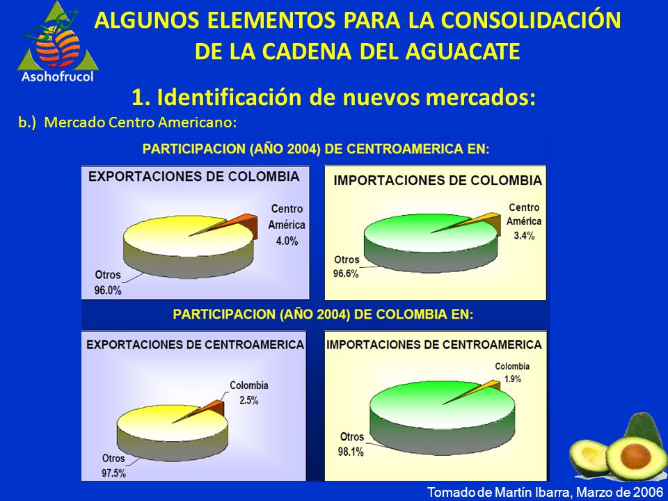 ALGUNOS ELEMENTOS PARA LA CONSOLIDACIÓN DE LA CADENA DEL AGUACATE