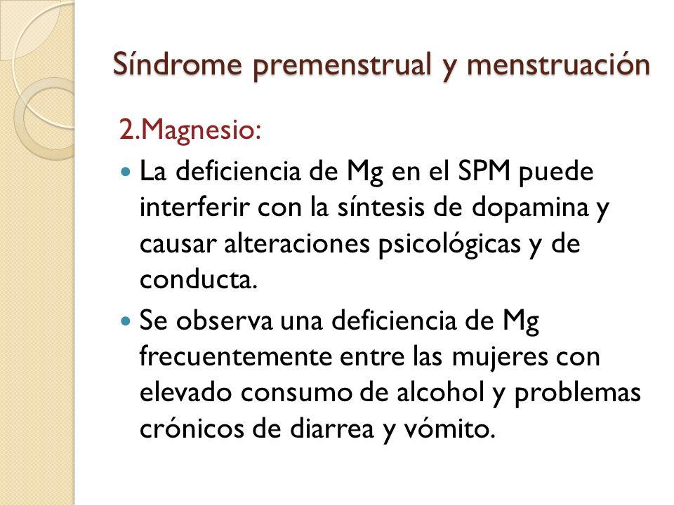 Síndrome premenstrual y menstruación