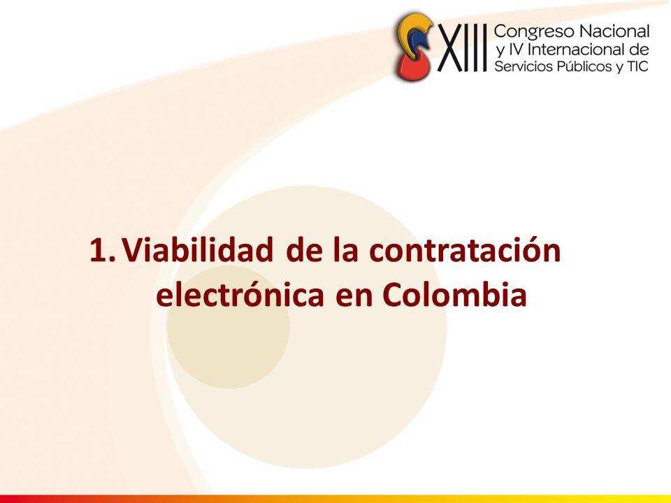 Viabilidad de la contratación electrónica en Colombia