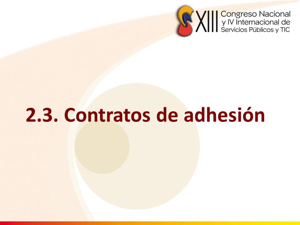 2.3. Contratos de adhesión 32