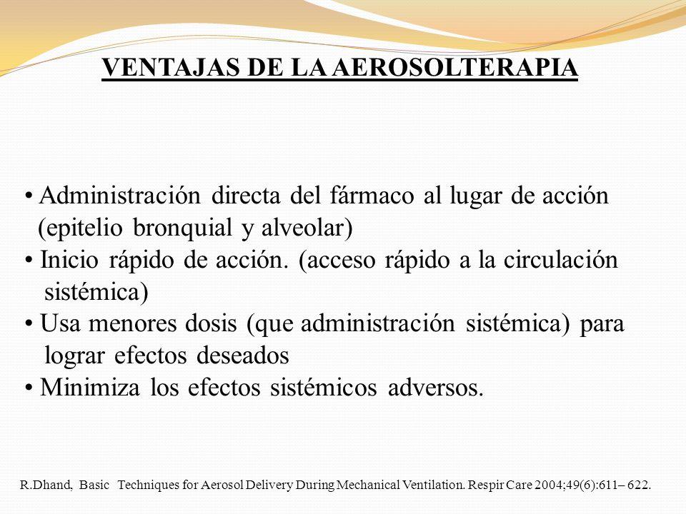 VENTAJAS DE LA AEROSOLTERAPIA