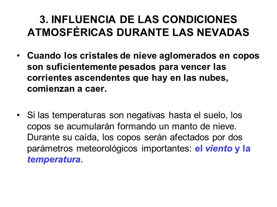3. INFLUENCIA DE LAS CONDICIONES ATMOSFÉRICAS DURANTE LAS NEVADAS