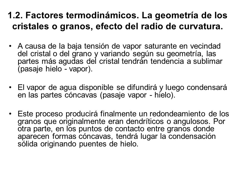 1. 2. Factores termodinámicos