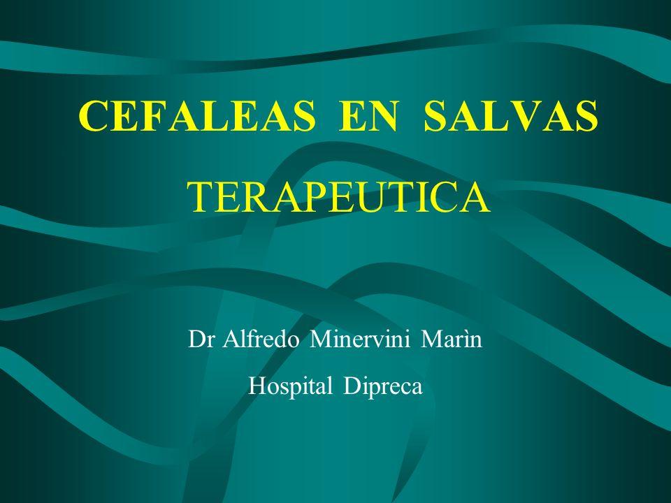 CEFALEAS EN SALVAS TERAPEUTICA