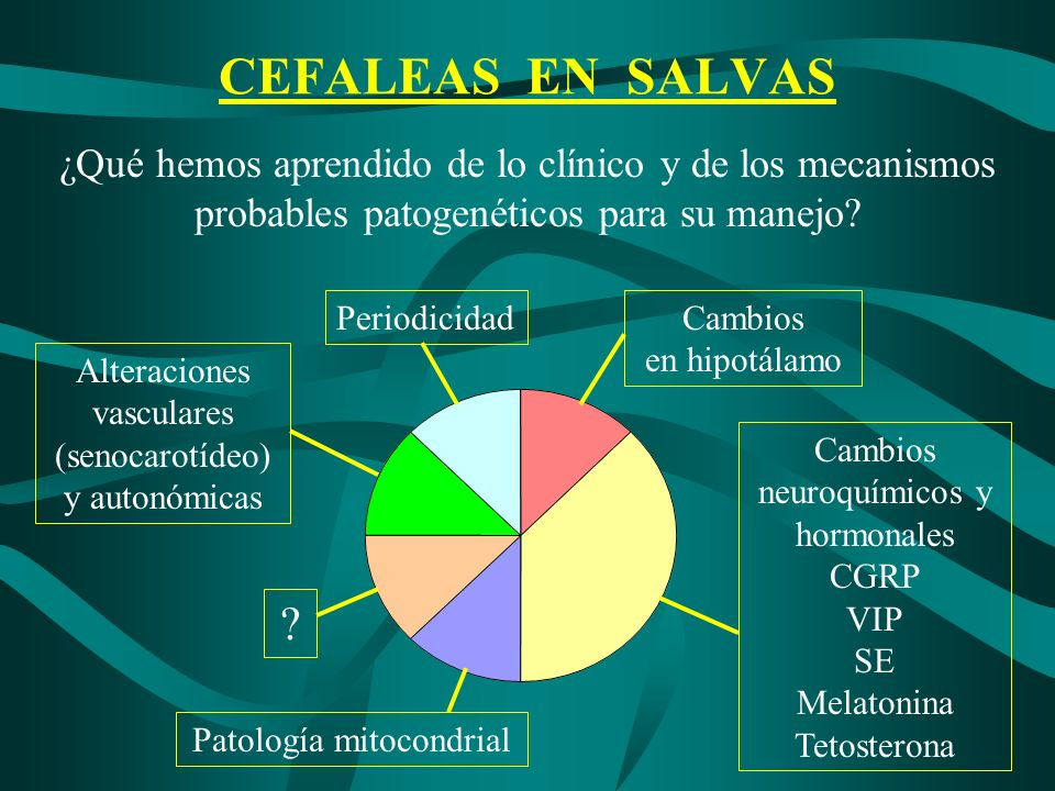 CEFALEAS EN SALVAS ¿Qué hemos aprendido de lo clínico y de los mecanismos probables patogenéticos para su manejo