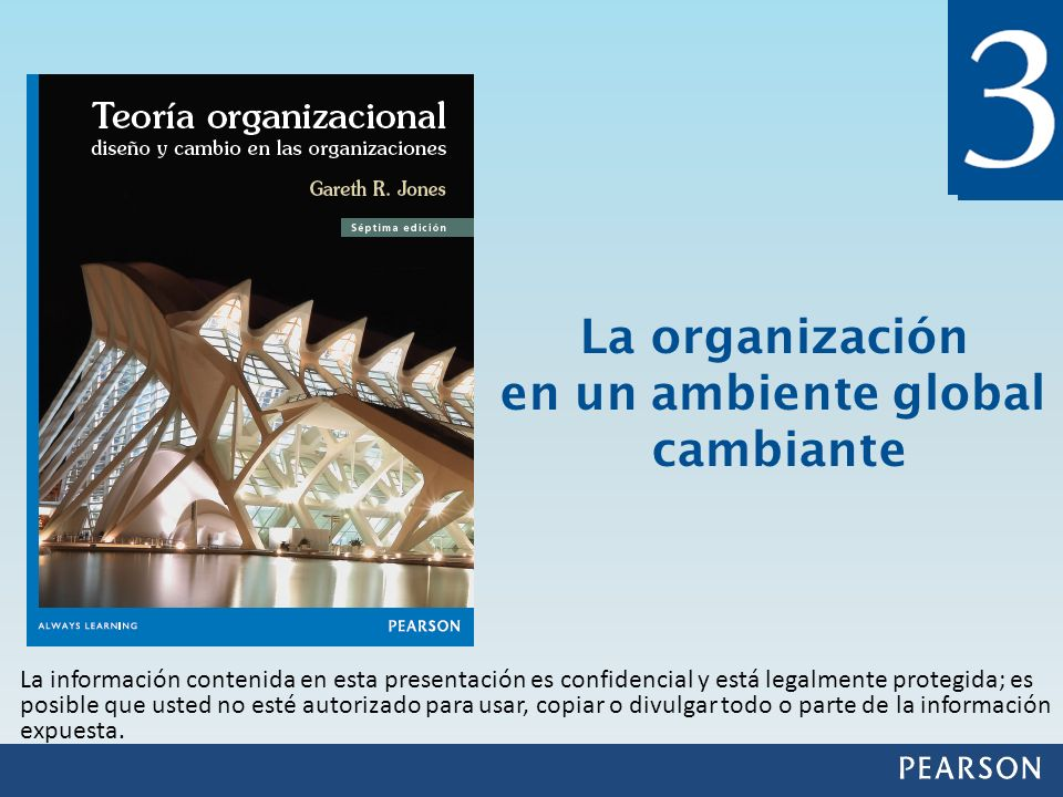 La organización en un ambiente global cambiante